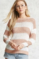 Forever 21 FOREVER 21+ Striped Open-Knit Sweater