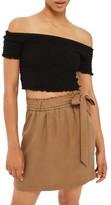 Topshop Women's Paperbag Tie Waist Skirt