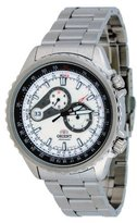 Orient #ET0M001W Men's Speedo Stainless Steel Silver Dial Multi Function Automatic Watch