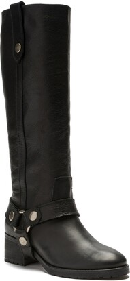 Etienne Aigner Mina Knee High Motorcycle Boot