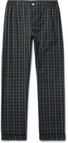 Sleepy Jones - Marcel Contrast-tipped Checked Cotton Pyjama Trousers