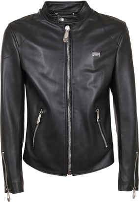 Philipp Plein Leather Moto Jacket