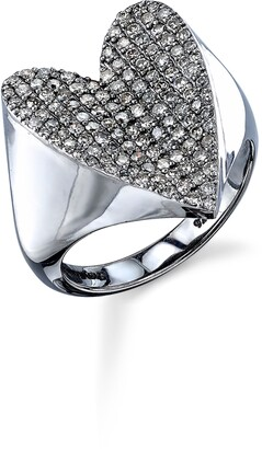 Sheryl Lowe Pave Diamond Heart Ring