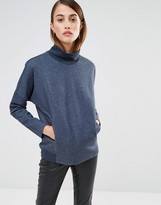 Selected Oversized Sweat Top with Turtleneck