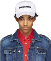 DSQUARED2 White Logo Baseball Cap