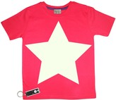 Little Mashers - Adult Red Star TEE LIGHT Glow In The Dark Interactive T-Shirt - Adult Small - Red/White
