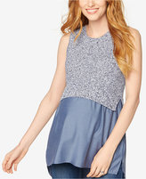 A Pea in the Pod Sleeveless Layered-Look Sweater