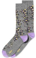 Bar III Men's Patterned Ditsy Floral Dress Socks, Created for Macy's