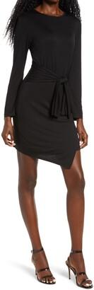 Fraiche by J Tie Front Long Sleeve Dress