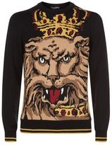 Dolce & Gabbana Embroidered Lion Sweater