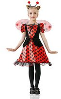 La Mascarade Girls' Red Ladybug Princess Fairy Love Bug Dress Up & Role Play Halloween Costume (4-7 years)