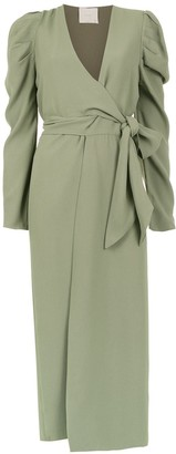 Framed Teshima wrap dress