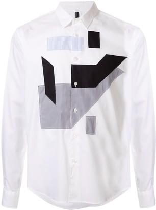 Blackbarrett Long-Sleeved Multi-Patch Shirt