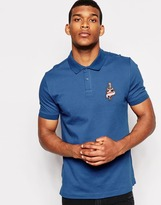 Love Moschino Polo T-shirt With Tattoo Logo - Blue