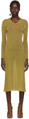 Lanvin Gold Lurex Knitted Dress