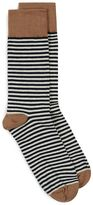 Selected Homme Navy And Off White Stripe Socks