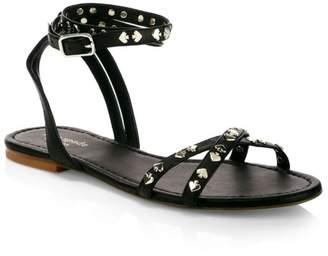 Kate Spade Liz Spade Stud Leather Gladiator Sandals
