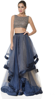 Terani Evening - Dashing Crystal Accented Bateau Neck A-line Gown 1611P1369A
