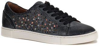 Frye Ivy Deco Stud Low Lace Suede Sneakers