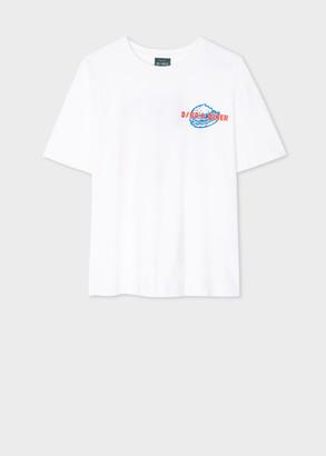 Paul Smith Women's White 'Dino's Diner' Organic Cotton T-Shirt