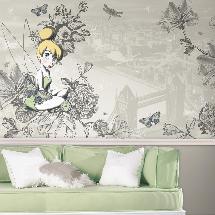 Mural Roommates Disney Tinker Bell Vintage Wall by RoomMates