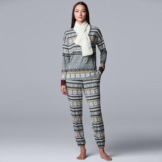 Vera Wang Petite Simply Vera 3-Piece Pajama Set