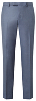 John Lewis Woven In Italy Sharkskin Tailored Suit Trousers, Ice Blue
