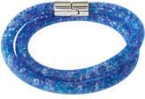 Swarovski Stardust Convertible Crystal Mesh Bracelet/Choker, Blue Multi, Medium