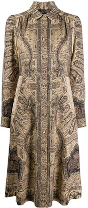 Etro Paisley-Print Midi Shirt Dress