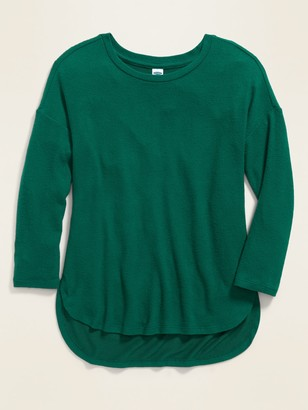 Old Navy Plush-Knit Hi-Lo Scoop-Neck Tunic Top for Girls