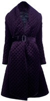 Burberry belted quilted coat