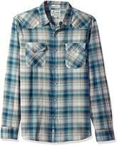 Lucky Brand Men's Santa Fe Western Shirt in Blue Multi