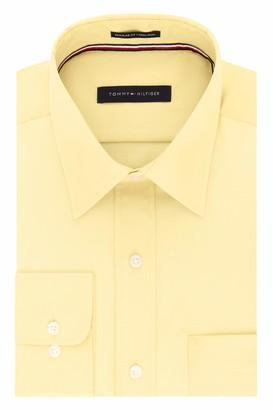 Tommy Hilfiger Mens Regular Fit Non Iron Solid Dress Shirt