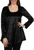 24/7 Comfort Apparel Ashley Velvet Tunic Top - Plus