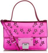 Jimmy Choo REBEL SOFT MINI Tea Rose Mirror Coated Fabric with Stars Mini Cross Body Bag