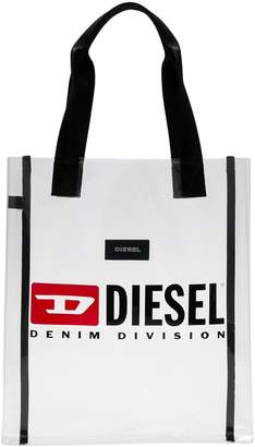 Diesel clear shoulder bag