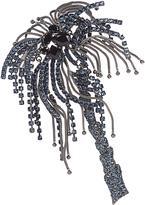 Sonia Rykiel Crystal-embellished palm tree brooch