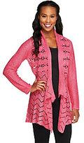 Liz Claiborne New York Crochet Cardigan Sweater