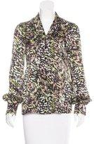 Rachel Zoe Abstract Print Silk top