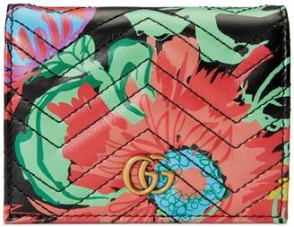 Gucci Online Exclusive Ken Scott print GG card case wallet