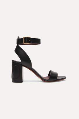 Valentino Garavani Go Logo Leather Sandals - Black