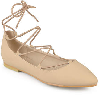 Journee Collection Womens Fiona Lace-Up Flats