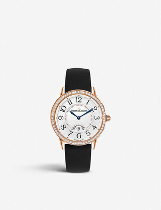 Jaeger-LeCoultre Q3472530 Rendez-Vous 18ct rose-gold and satin watch