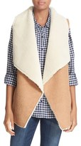 Soft Joie Women's 'Breese' Faux Shearling Drape Front Vest