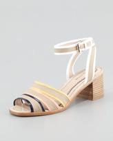 Pour La Victoire Rylie 2 Canvas Sandal, Navy/Orange/Yellow