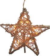 Kurt Adler Rattan Gold Star Tree Topper