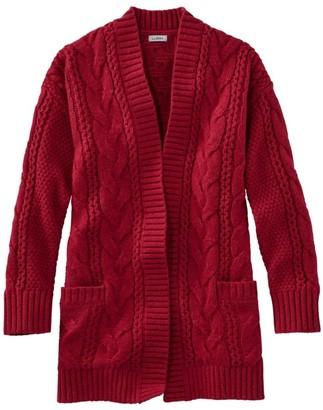 L.L. Bean L.L.Bean Women's Heritage Sweater, Cable Cardigan