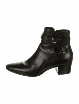 Saint Laurent Jodhpur Leather Boots Black
