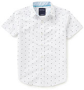 Nautica Big Boys 8-20 Anchor-Print Short-Sleeve Woven Shirt