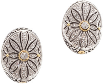 Candela Andrea Andrea Ii 18K & Silver Diamond Antique Flower Studs
